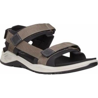 エコー メンズ サンダル シューズ Men's ECCO X-Trinsic Strap Walking Sandal Black/Warm Grey Textile