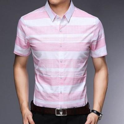 シャツ メンズ カジュアルシャツ メンズ 半袖 トップス アウトドア 通勤 薄て シャツ 大きいサイズ アメカジ 2018春夏新作