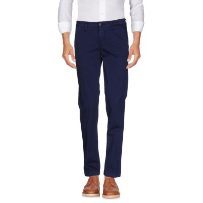 マニュエル リッツ MANUEL RITZ パンツ ブルー 46 コットン 97% / ポリウレタン 3% パンツ