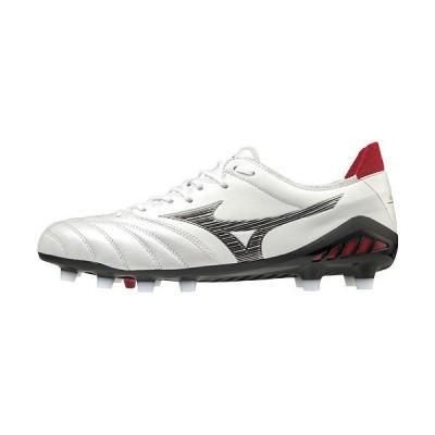 ミズノ(MIZUNO) メンズ レディース ジュニア サッカースパイク モレリアネオ MORERIA NEO 3 JAPAN ホワイト×ブラック P1GA2080 09 天然芝 土 人工芝 靴 部活