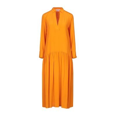 KATIA GIANNINI 7分丈ワンピース・ドレス オレンジ 40 アセテート 69% / シルク 31% 7分丈ワンピース・ドレス