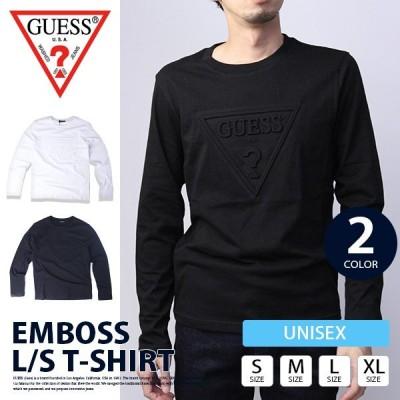 GUESS ロンT GUESS ロングTシャツ GUESS Tシャツ メンズ 新作 長袖 ゲス Tシャツ メンズ 長袖 EMBOSS L/S T-SHIRT MZ3K9452J