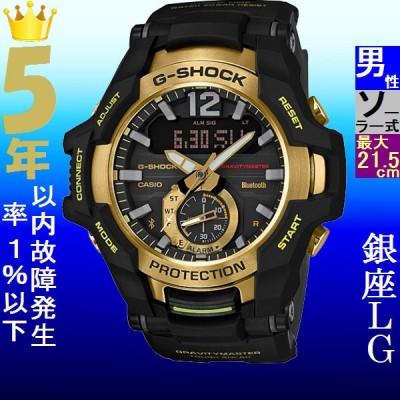 腕時計 メンズ カシオ(CASIO) Gショック(G-SHOCK) 100型 アナデジ グラビティマスター タフソーラー ブラック/ブラック×ゴールド色 111NGRB100GB1A