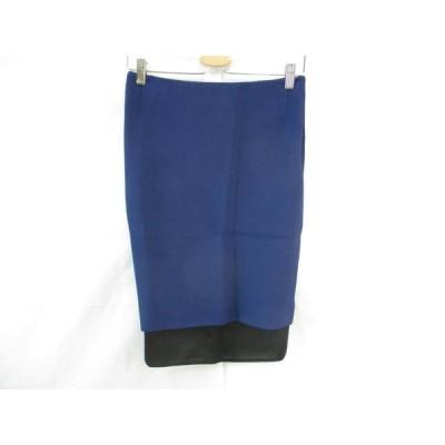 新品 未使用 バルバラビュイ BARBARA BUI タイトスカート スカート 膝丈 36 青 ブルー レディース