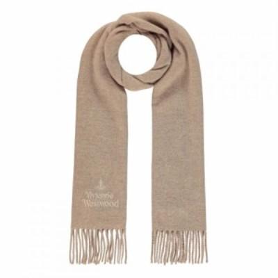 ヴィヴィアンウエストウッド Vivienne Westwood Accessories メンズ マフラー・スカーフ・ストール Embroidered Logo Scarf Camel