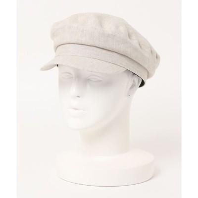 帽子 キャスケット 【CASSELINI】麻キャスケット