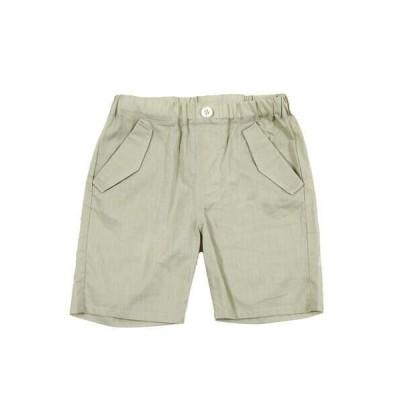 BeBe / べべ ボイル ポケット 付き ひざ丈 パンツ(80〜100cm)