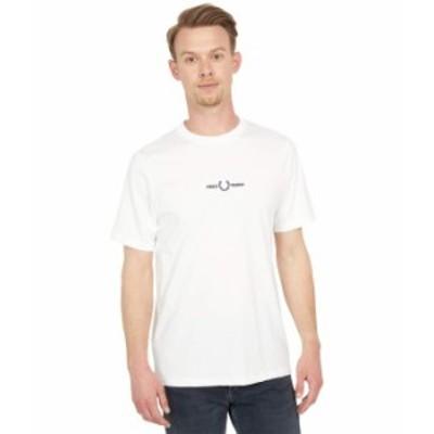 フレッドペリー メンズ シャツ トップス Embroidered T-Shirt Snow White
