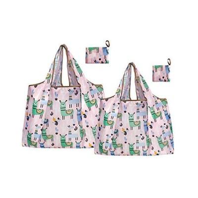 エコバッグ 折りたたみ 買い物袋 レジ袋 ショッピングバッグ おしゃれ 防水 買い物バッグ 2点セット (2点セット