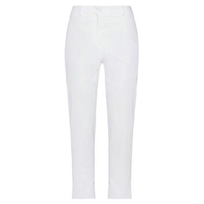 WEEKEND MAX MARA パンツ ホワイト 46 コットン 97% / ポリウレタン 3% パンツ