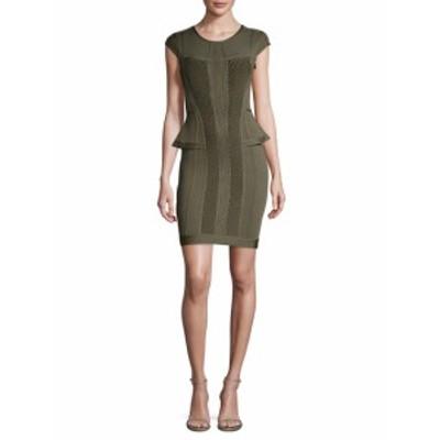 エルベレジェ レディース ワンピース Pointelle Knit Cap Sleeve Sheath Dress