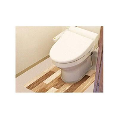 明和グラビア 防水模様替えシート トイレ床用 90cm×80cm LBr(ライトブラウン) BKTY-9080 (1099641)