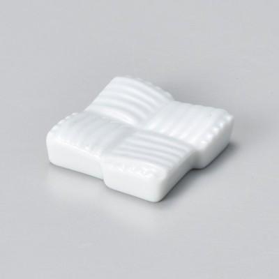 業務用食器 帯組み 白 箸置き 3.8×0.8�