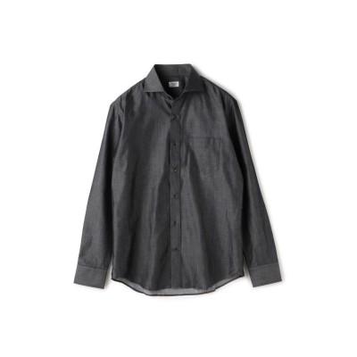 【メンズビギ】 シャンブレーシャツ/コットンデニム調/コットン100% メンズ ブラック M Men's Bigi