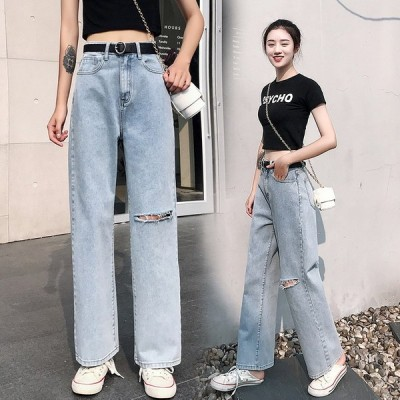 デニムパンツ ワイトパンツ カジュアル ズボン テーパード 可愛い ゆったり レディース ハイウエスト 美脚 ジーパン 大きいサイズ 10代 20代 30代 ボトムス