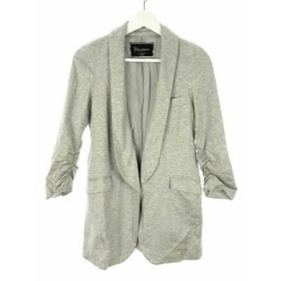 【中古】Diagram GRACE CONTINENTAL ジャケット シルク混 長袖 36 袖シャーリング 灰色 グレー アウター レディース