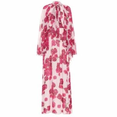 ジャンバティスタ バリ Giambattista Valli レディース ワンピース ワンピース・ドレス Floral-printed silk maxi dress Rose-Peony Fram