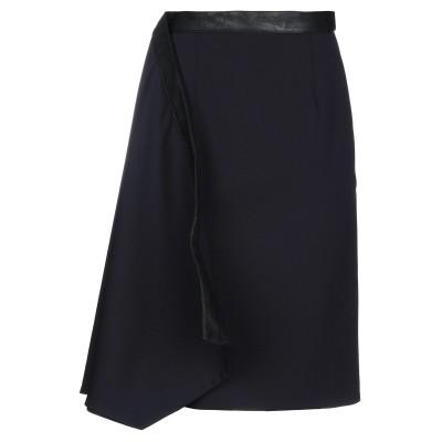 Y/PROJECT ミディスカート ダークブルー XS ウール 98% / ポリウレタン 2% / ポリエステル / ポリウレタン ミディスカート