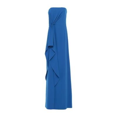 ホルストン・ヘリテージ HALSTON ロングワンピース&ドレス ブルー 2 ポリエステル 95% / ポリウレタン 5% ロングワンピース&ドレス