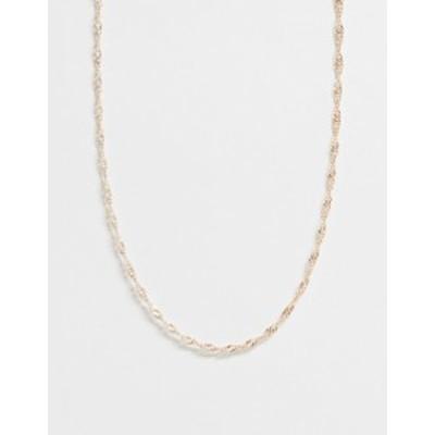 トップショップ レディース ネックレス・チョーカー アクセサリー Topshop twisted chain necklace in gold Gold