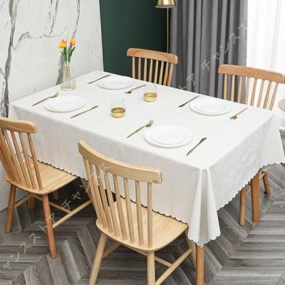 テーブルクロス テーブルマット インテリア 北欧INS 汚れ防止 テーブルカバー 長方形 お手入れ簡単 多色選べる 無地 正方形 縁取り 北欧風 祝日の贈り物