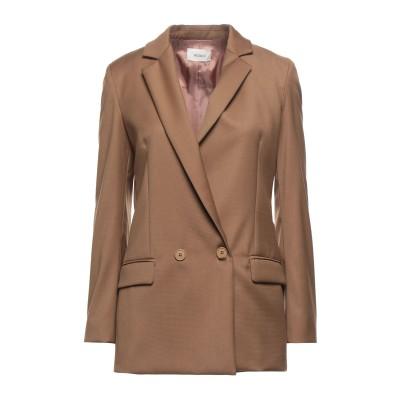 VICOLO テーラードジャケット ブラウン S ポリエステル 64% / レーヨン 33% / ポリウレタン 3% テーラードジャケット