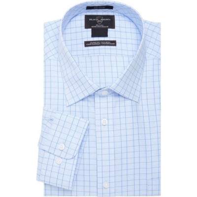 ブラックブラウン Black Brown 1826 メンズ シャツ トップス multi-grid dress shirt ブルー