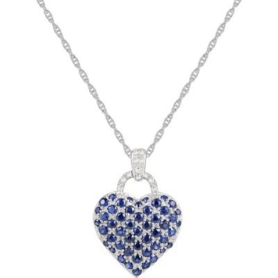 メイシーズ Macy's レディース ネックレス ハート Pink Sapphire (2-1/4 ct. t.w.) and Diamond Accent Heart Pendant Necklace in Sterling Silver Sapphire