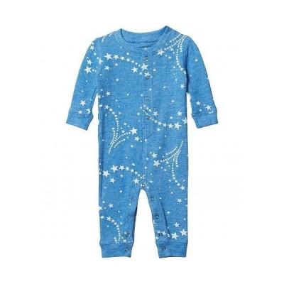P.J. Salvage Kids キッズ 子供用 ファッション 子供服 パジャマ 寝巻き Athletic Club Star Peachy Romper (Infant) - Heather Bright Blue