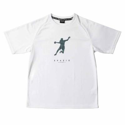 SPAZIO(スパッツィオ) ハンドボール ハンドボールプレイヤーTシャツ1 BC0132 01 ホワイト 19FW