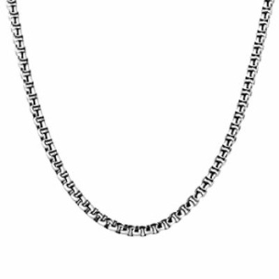 Estendly 3mm 16 to 38In Stainless Steel Rolo Chain Necklace Crude Round Box Cable Wrist Necklace for Men Women Jewelry