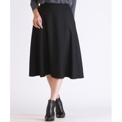 【ロートレ・アモン】 《ウール混》360度可愛く見える最強スカート レディース ブラック 7号 LAUTREAMONT
