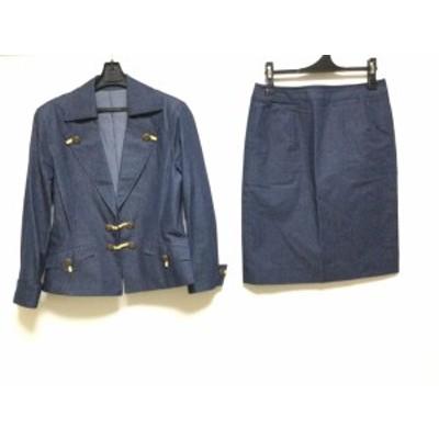 ミスアシダ miss ashida スカートスーツ サイズ9 M レディース - ネイビー 肩パッド【中古】20201116