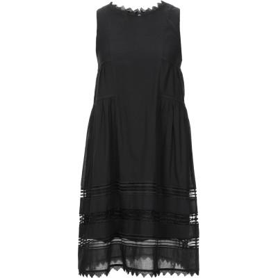 アルファスタジオ ALPHA STUDIO ミニワンピース&ドレス ブラック 40 コットン 100% / ポリエステル ミニワンピース&ドレス