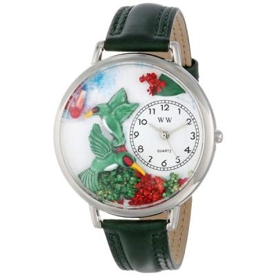 ハチドリ ピンクレザー シルバーフレーム時計 #U1210003