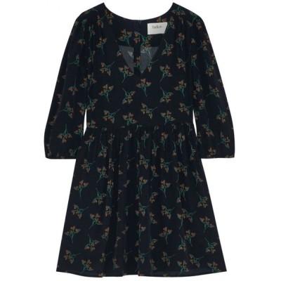 バッシュ BA&SH レディース ワンピース ワンピース・ドレス flow gathered floral-print crepe de chine mini dress Black