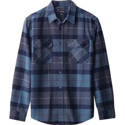 Brixton Bowery L/S Flannel Shirt Navy/Carolina Blue M ネルシャツ 送料無料