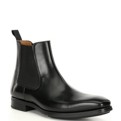 マグナーニ メンズ ブーツ&レインブーツ シューズ Men's Riley Chelsea Boots Black