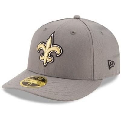ニューエラ メンズ 帽子 アクセサリー New Orleans Saints New Era Storm Low Profile 59FIFTY Fitted Hat Graphite