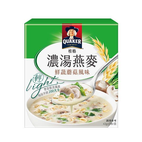 桂格濃湯燕麥-鮮蔬蘑菇47gX5包