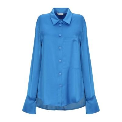 RUE•8ISQUIT シャツ ブライトブルー 40 ポリエステル 100% シャツ