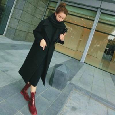 レディース ロングコート トレンチコート アウター 秋 冬 長袖 ブラック カーキ ブラウン S M L XL 2XL 大きいサイズ 送料無料