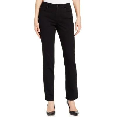 チャータークラブ デニムパンツ ボトムス レディース Petite Lexington Short Straight-Leg Jeans, Created for Macy's Saturated Black