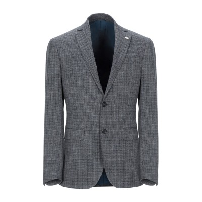 BARBATI テーラードジャケット ダークブルー 46 ポリエステル 63% / レーヨン 34% / ポリウレタン 3% テーラードジャケット