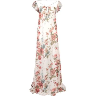 SAINT LAURENT ロングワンピース&ドレス ホワイト 40 シルク 100% ロングワンピース&ドレス