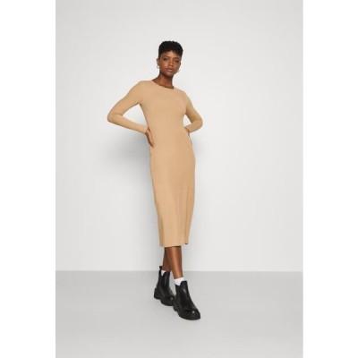 レディース ファッション YASZULLY MIDI DRESS - Jumper dress - tan