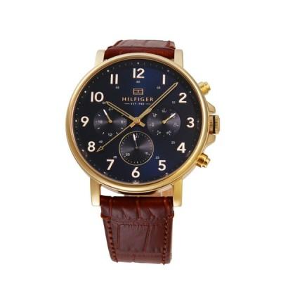 トミー ヒルフィガー TOMMY HILFIGER メンズ 腕時計 ネイビー ブラウン 1710380