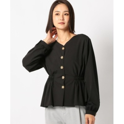 MEW'S REFINED CLOTHES / 前ボタンペプラムブラウス WOMEN トップス > シャツ/ブラウス