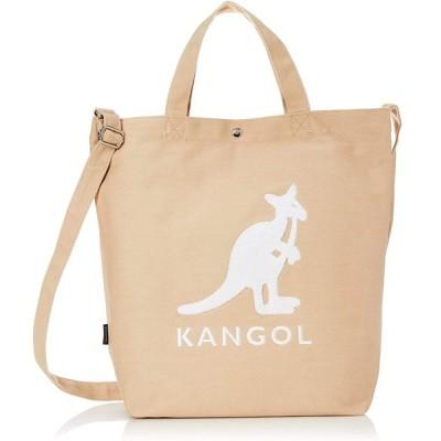 [カンゴール] トートバッグ KANGOLロゴもこもこサガラ刺繍 コットンキャンバス 2WAY ショルダーバッグ