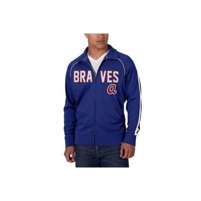 47 ベースボール MLB 野球 アメリカ メジャー 全米 47 Atlanta Braves ブルー ダブル Play Full-Zip トラック ジャケット